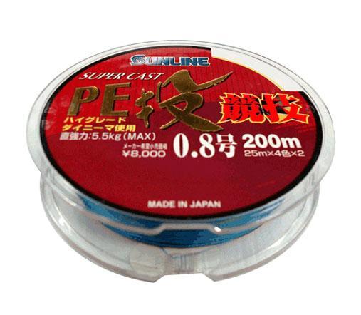 Шнур Sunline S-Cast PE Nagi Kyogi 200m #1.2/0.185mm 8.8kg