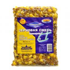 """Прикормка длительного хранения """"Ассорти"""" (вакуум) 500г (горох+ кукуруза+ пшеница+конопля)"""