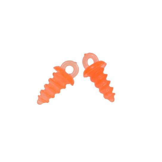 Шуруп для бойла (пластик) оранжевый 10шт