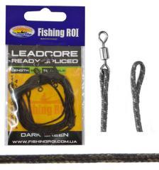 Lead Core петли Fishing ROI тёмно-зелёный 35Lb (упак.3 шт)