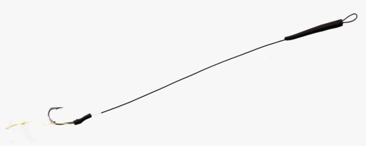 Поводок Extra Skin 30Lb 13.6kg крюч.KIJI №6 с крючковым кольцом