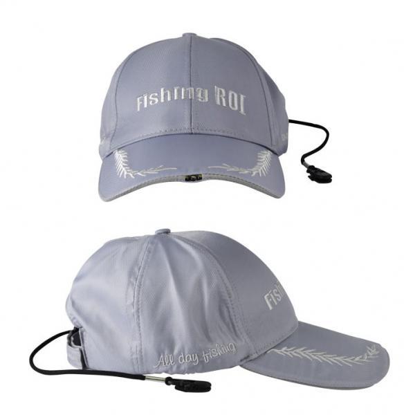 """Кепка с фонариком """"Led Fishing Сap"""" gray+silver"""