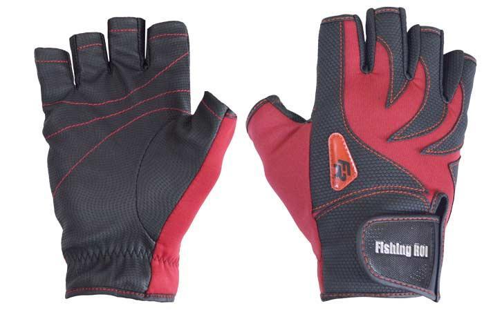 Перчатка спиннингиста Fishing ROI WK-05 red XXL (б/пальц.)