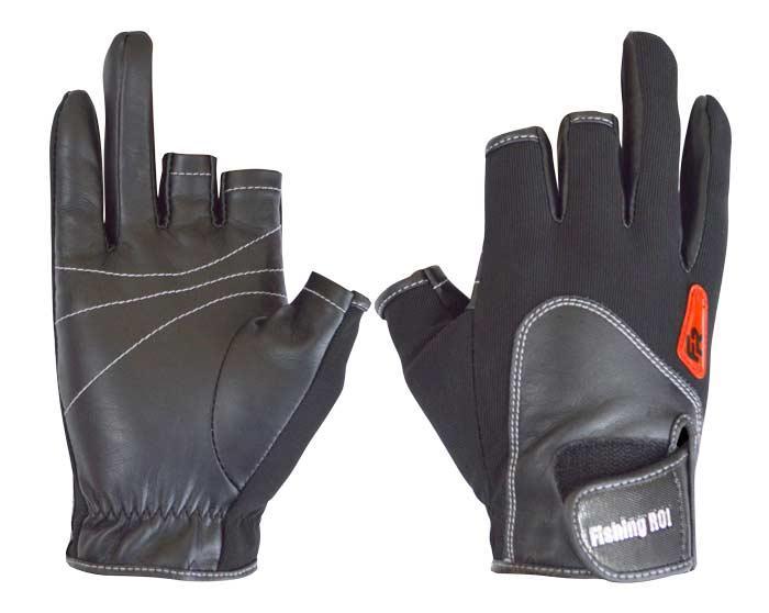 Перчатка спиннингиста Fishing ROI WK-11 black XXL (c 2 пальц.)