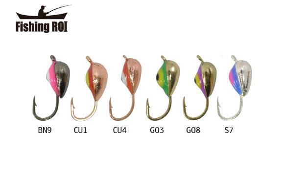 Мормышка вольфрамовая Fishing ROI Клоп с ушком покраска 4mm W-SIL7Y