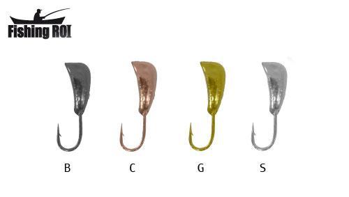 Мормышка вольфрамовая Fishing ROI Дельфин с отв. 4 mm black nickle