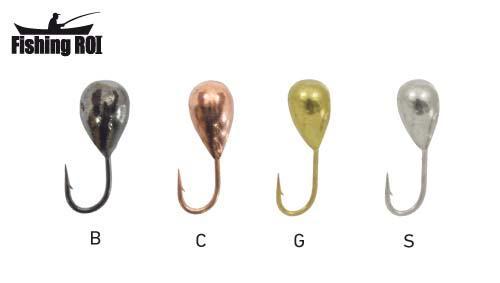 Мормышка вольфрамовая Fishing ROI Капля с отверстием 5mm black nickle
