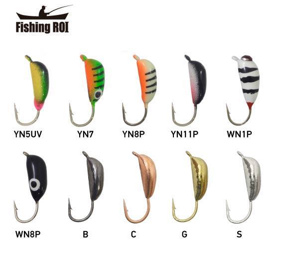 Мормышка вольфрамовая Fishing ROI Банан рижский 3mm black nickle