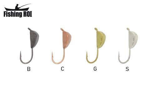 Мормышка вольфрамовая Fishing ROI Ракушка с ушком 4mm black nickle