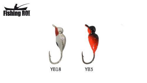 Мормышка вольфрамовая Fishing ROI Нимфа с подмазкой 3mm Y-YB3