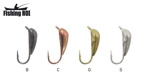 Мормышка вольфрамовая Fishing ROI Банан спортивный 3 mm black nickle