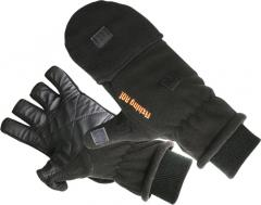 Перчатки флисовые Fishing ROI Fleece glover Black L