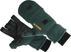 Перчатки флисовые Fishing ROI Fleece glover Dark Green L
