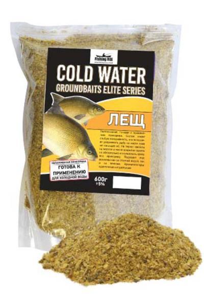 Прикормка Fishing ROI Elite Series Cold Water Увлажненная Лещ 600г.
