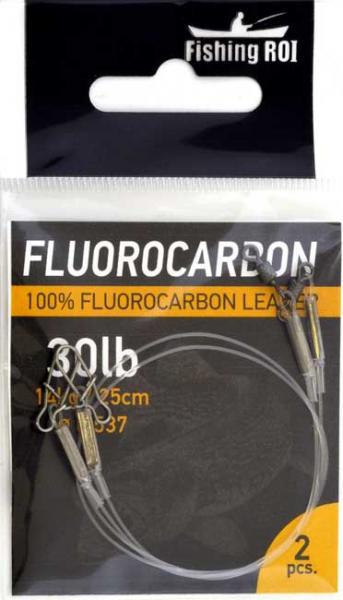 Флюорокарбоновый поводок Fishing ROI d=0,55мм. 14kg 25см