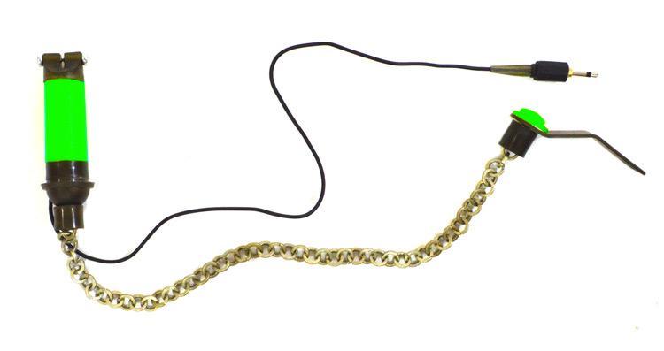 Свингер Fishing ROI  Bite Indicator на цепочке с подключением зеленый