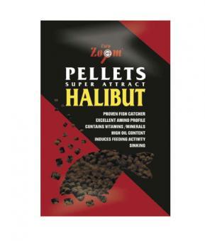 Halibut Pellets 12mm pre-drilled 800g (перфорированый палтусовый пеллетс)