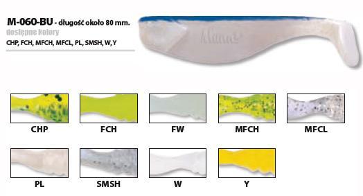 Силикон Manns M-066 BU-FW (fluo) (20шт)
