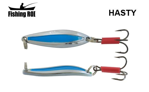 Блесна Fishing ROI Hasty 7gr Chrome Blue