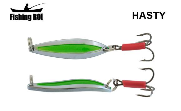 Блесна Fishing ROI Hasty 10gr Chrome Green