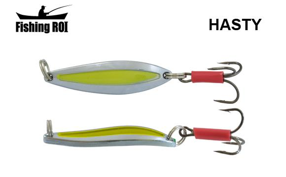 Блесна Fishing ROI Hasty 10gr Chrome Yellow