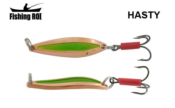 Блесна Fishing ROI Hasty 7gr Cooper Green