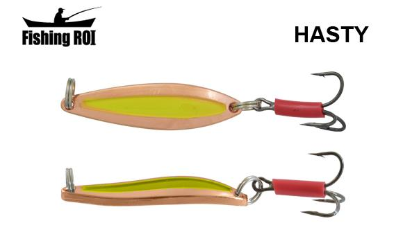 Блесна Fishing ROI Hasty 7gr Cooper Yellow