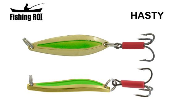 Блесна Fishing ROI Hasty 7gr Gold Green