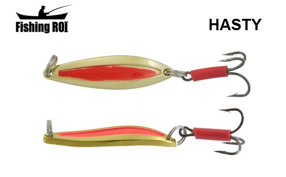 Блесна Fishing ROI Hasty 10gr Gold Red
