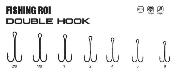 Крючки FR Double hook №1/0 (уп5шт)