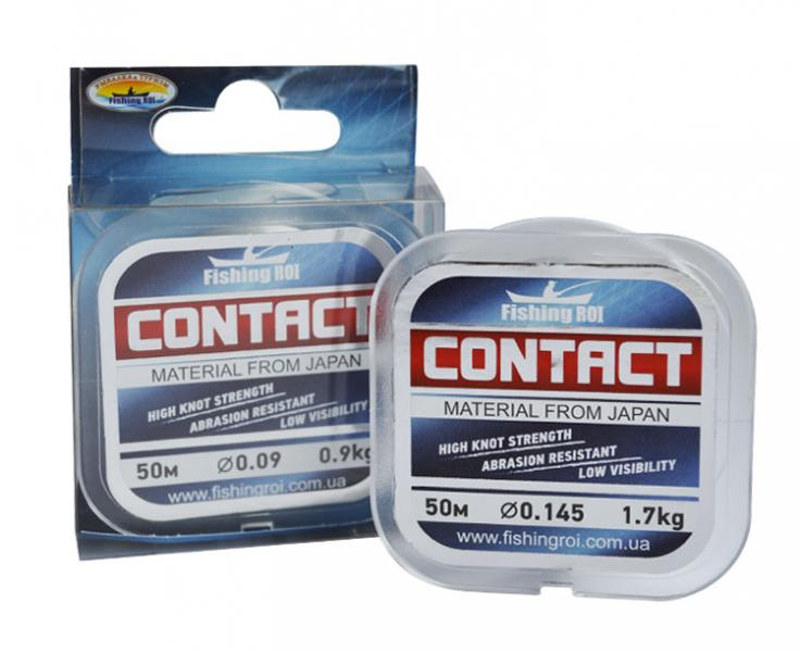 Леска поводочная Contact Fishing ROI 0,10мм 1,2кг 50м