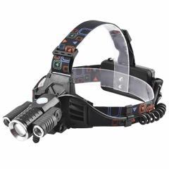 Фонарь налобный Police W602-T6+2XPE (наклон) ЗУ 220V/12V 2*18650 zoom Box