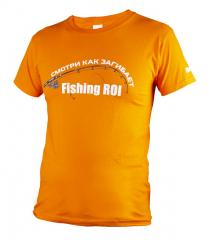 Футболка Fishing ROI TV оранжевая 2XL