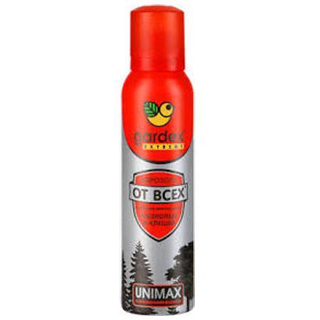 """""""Gardex"""" Extreme Аэрозоль-репеллент от комаров, клещей и мошек 150мл"""