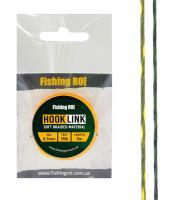 Поводковой материал Fishing ROI Hard d=0,2мм, 25lb, 5м зелено-белый/желтый