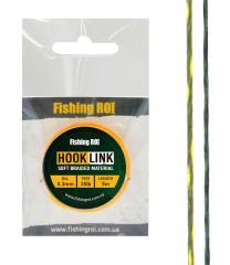 Поводковой материал Fishing ROI Hard d=0,25мм, 30lb, 5м зелено-белый/желтый