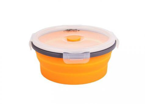 Контейнер складной с крышкой-защелкой Tramp (800ml) orange TRC-087-orange