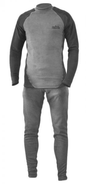 Термобелье Fishing ROI микро-флис XXXL (серо-черное)