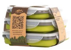 Набор из 3х силиконовых контейнеров Tramp TRC-089-ol (400/700/1000ml) olive