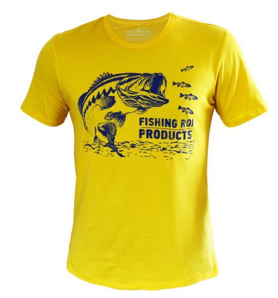 Футболка Fishing ROI BASS XXL желтая