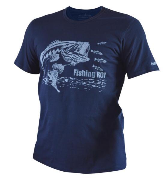 Футболка Fishing ROI BASS XXL темно-синяя