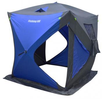 "Палатка зимняя Куб ""Fishing ROI"" LEGEND (180*180*205см.) grey-blue"