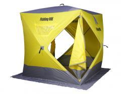 "Палатка зимняя Куб ""Fishing ROI"" ATLANT (150*150*170см.) yellow-grey"
