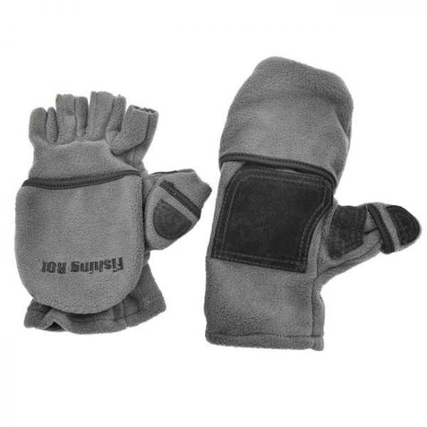 Перчатки Fishing ROI рыбацкие (серый) XL