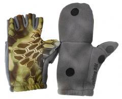 Перчатки Fishing ROI рыбацкие с пал. Рептилия (серые) L