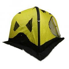 Палатка зимняя надувная 220*220*185 желтая
