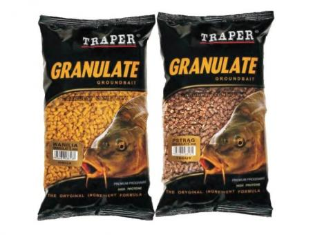 Прикормка TRAPER Granulate 5mm/1kg Strawberry