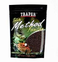 Пеллет TRAPER Method Feeder Pellet Halibut 4мм 500гр Green