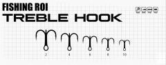 Тройник Fishing ROI Treble Hook №10 (уп5шт)