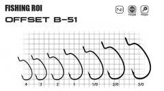 Крючки Offset B51 №1/0